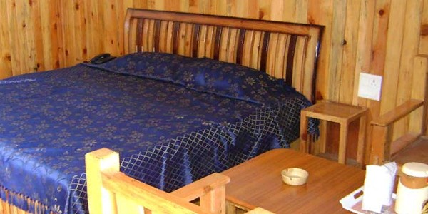 Wooden Deluxe Cottage Double Bed
